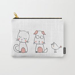 A cat, a dog and a little bird Carry-All Pouch