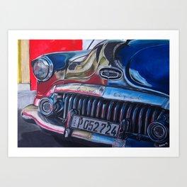 OldBuick Eight Car in Chalk Pastels Art Print