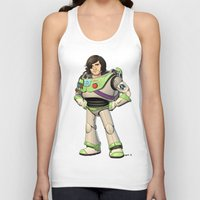 buzz lightyear Tank Tops featuring Woody Lightyear (colour) by Other People's Characters