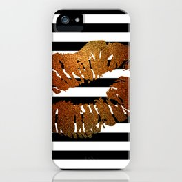 Stripes and Fire Kiss iPhone Case