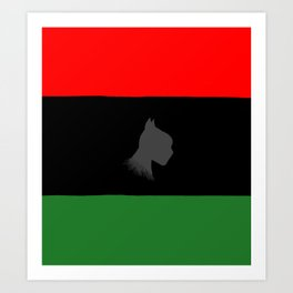 Black Panther Pan-African flag Art Print