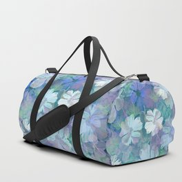 Painterly Midnight Floral Abstract Duffle Bag