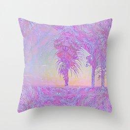 Beach Pink Throw Pillow