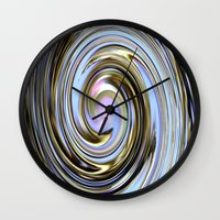 the wire Wall Clocks featuring Wire spiral by Hannah