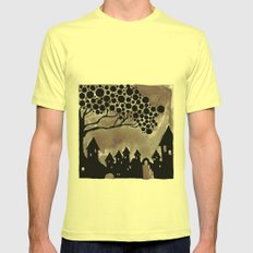 noturne city Mens Fitted Tee Lemon SMALL