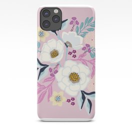 Naturally Beautiful Lavender White Flower Bouquet iPhone Case