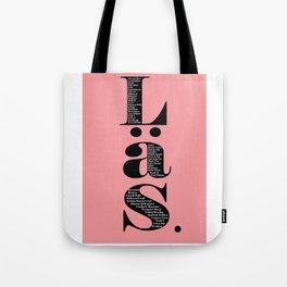 Läs - rosa Tote Bag