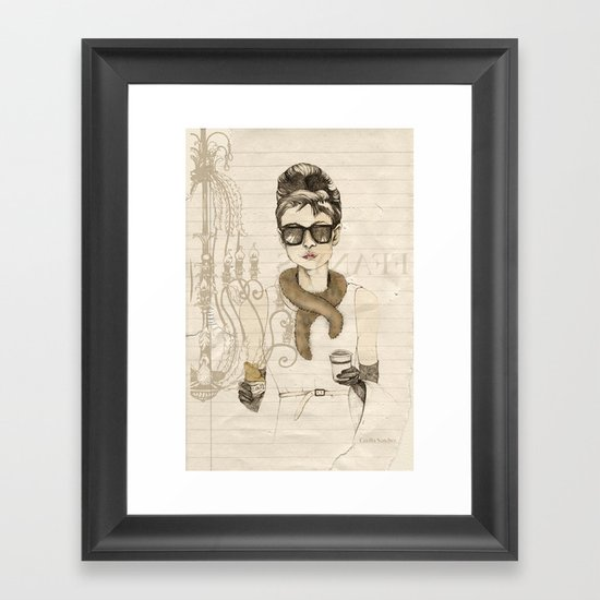My breakfast at Tiffany's Framed Art Print