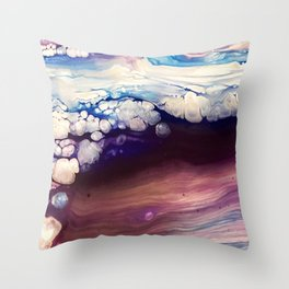 Purple Wave Throw Pillow