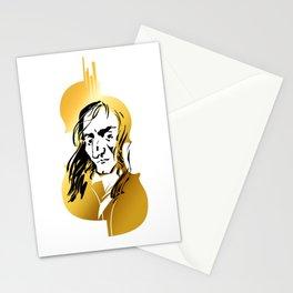 Niccolo Paganini and golden violin Stationery Cards