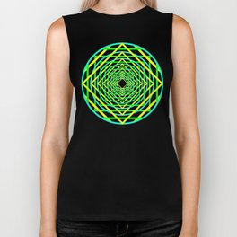 Diamonds in the Rounds Blacklight Neons Yellow Greens Biker Tank