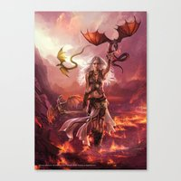 "daenerys Canvas Prints featuring Daenerys Targaryen ""A Song of Ice and Fire"" ( A Game of Thrones ) by Magali Villeneuve"