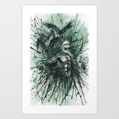 I Feel Like Shit, But At Least I Feel Something Art Print