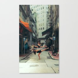 Dancers Parallel Jump Canvas Print