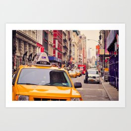 NYC Yellow Cab Art Print