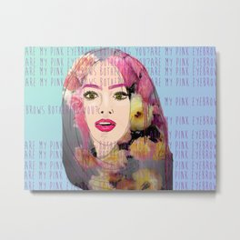 Are my pink eyebrows bothering you?  Metal Print