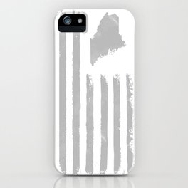 Distressed USA Flag with Maine Silhouette Original Design iPhone Case