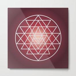 Sacred Geometry Triangle Metal Print