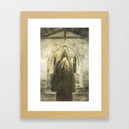 Dark Victorian Portrait: The Pious Framed Art Print