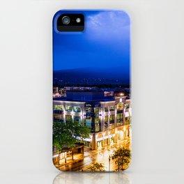 Stormy city night life iPhone Case