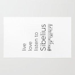 Live, love, listen to Sibelius Rug