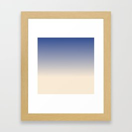 Antique White and Christmas Blue Gradient Colors Framed Art Print
