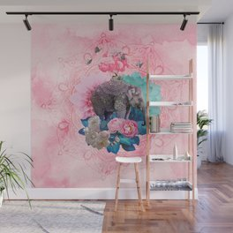 FLORAL ELEPHANT Wall Mural