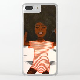 Afro Girl Clear iPhone Case