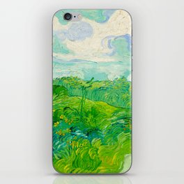 Field with Green Wheat 1890 Oil Painting By Vincent Van Gogh iPhone Skin