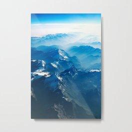 Blue Foggy Mountain Metal Print