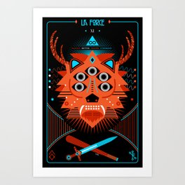 TAROT. XI- La Force Art Print