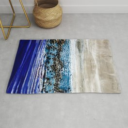 ...blurred line of horizons Rug