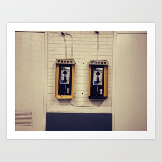 Pay Phone V Art Print