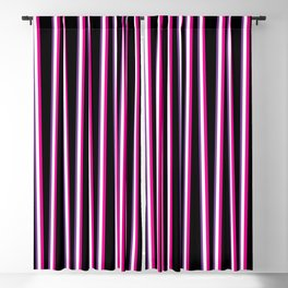 Between the Trees - Black, Pink & Purple #259 Blackout Curtain