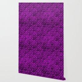 Vintage Floral Lace Leaf Dazzling Violet Wallpaper