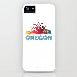 Retro Oregon Mountain Design for Men Women and Kids iPhone Case