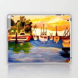 Lahaina Harbor Sunset Laptop & iPad Skin