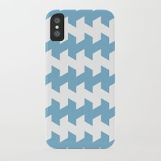 jaggered and staggered in dusk blue iPhone X Slim Case