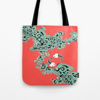 pisces Tote Bags featuring Pisces by LindsayMichelle