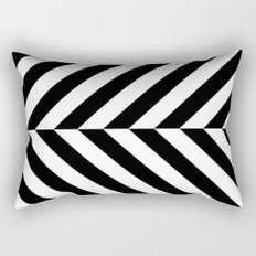 Black and White Op Art Design Rectangular Pillow