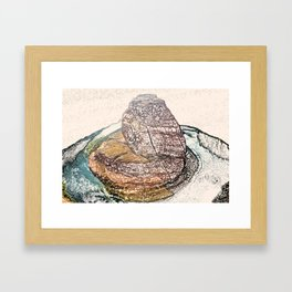 ArtWork Horseshoe Bend Arizona USA Grand Canyon Art Work Paint Painting Framed Art Print