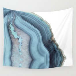 Light Blue Agate Wall Tapestry