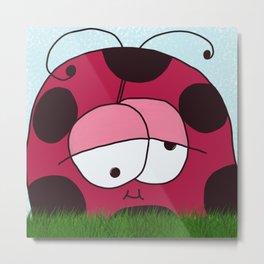 The Chubby Ladybug Metal Print