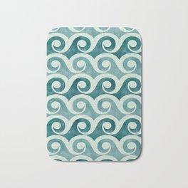 Vintage Waves - Tropical Teal Bath Mat