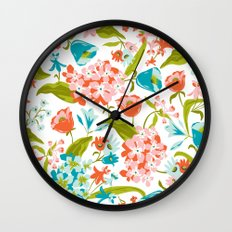 Amilee White Wall Clock