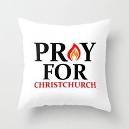Pray For Christchurch Throw Pillow