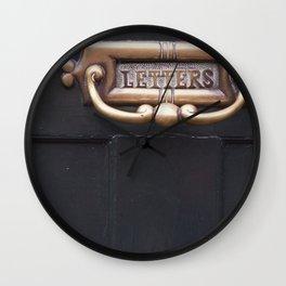 Kew Letters Wall Clock
