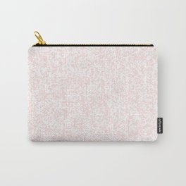 Tiny Spots - White and Pastel Pink Carry-All Pouch