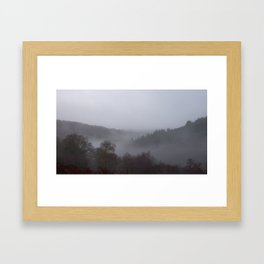 Panoramic photograph of West Devon valley Framed Art Print