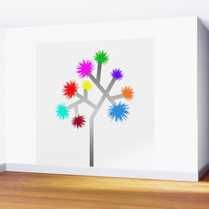 Joshua Tree Pom Poms by CREYES Wall Mural